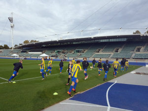 U12s warm up for Sydney game