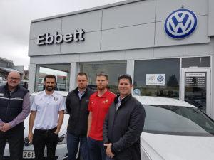 Brad Haward (Ebbets Volkswagen), Dave Wright (Fulham FC), Hadleigh Van de Engel (Ebbets Volkswagen), Kale Herbert (RHFA) and Matthew Vartan (Ebbets Volkswagen).