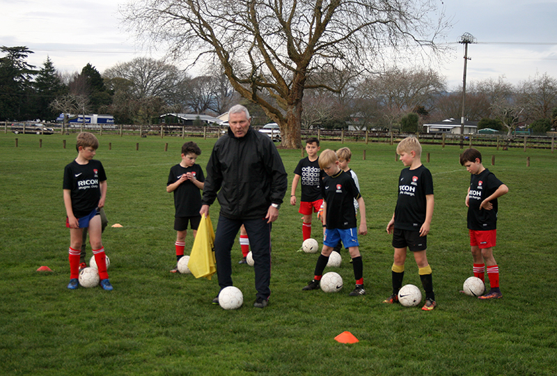Herbert puts in guest coaching appearance with club's youngsters