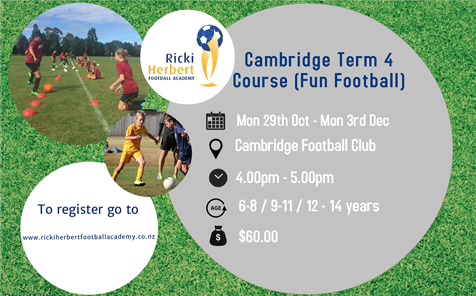 Fun football sessions planned for Term 4 in Cambridge